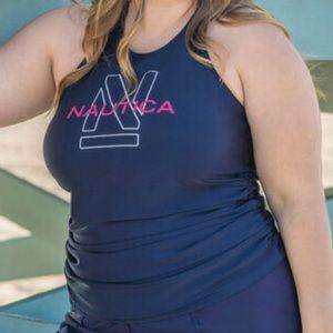 Nautica NWT High-Neck Swim Tankini Top, 26
